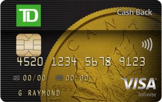 TD Cash Back Visa Infinite – 值得持有前三月的返现卡