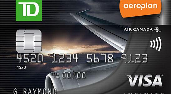 TD Aeroplan Visa Infinite – TD的旗舰信用卡