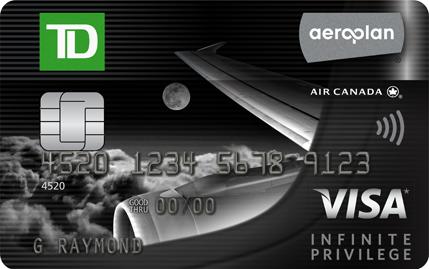 TD Aeroplan Visa Infinite Privilege, TD旗舰卡的升级版介绍