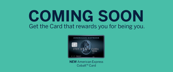 加拿大运通下周推出新卡 – American Express Cobalt