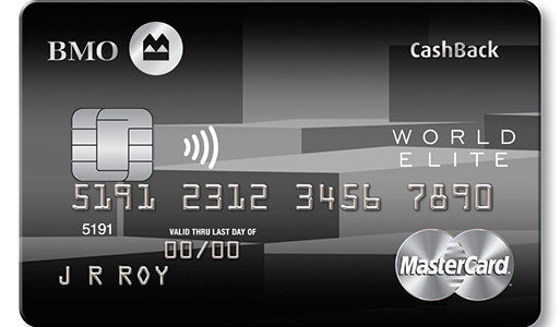 满地可返现世界之极卡 – BMO CashBack World Elite Mastercard