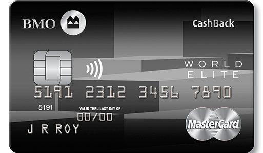 满地可返现世界之极卡 – BMO CashBack World Elite Mastercard